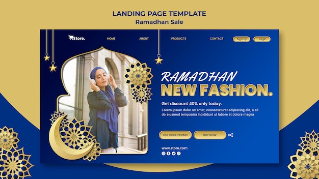 Шаблон целевой страницы для продажи рамадан