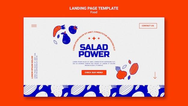 Шаблон целевой страницы для салатной силы