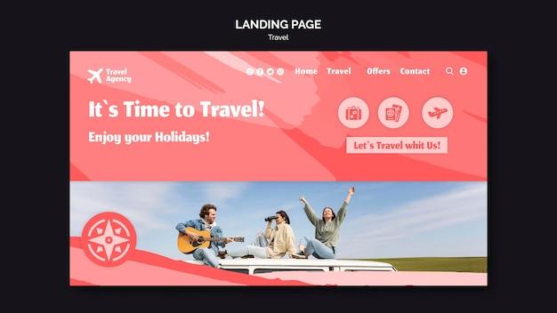 旅行代理店のランディングページテンプレート Premium Psd