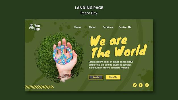 세계 평화의 날 방문 페이지 템플릿