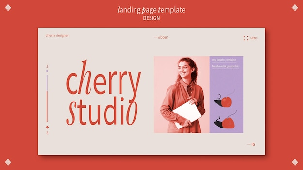 Landing page template for graphic designer