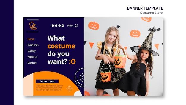 Modello di pagina di destinazione per costumi di halloween