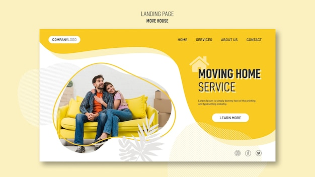 Landing page template for house relocation services