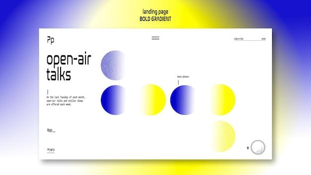 Шаблон целевой страницы жирным градиентом с изображением планеты и науки