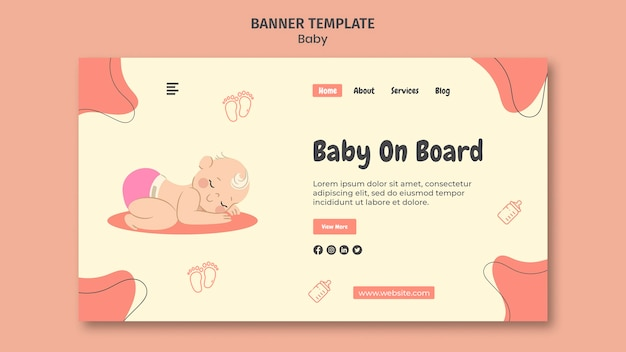 Landing page template for international baby day