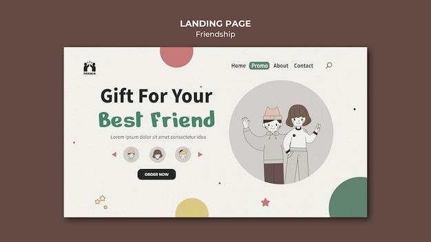 Modello di pagina di destinazione per la giornata internazionale dell'amicizia con gli amici