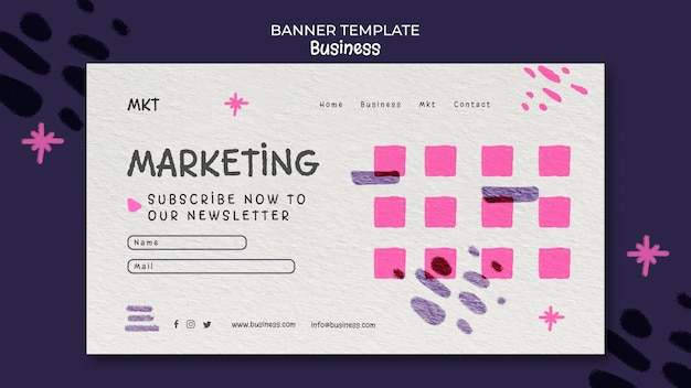 Landing page template for marketing agency