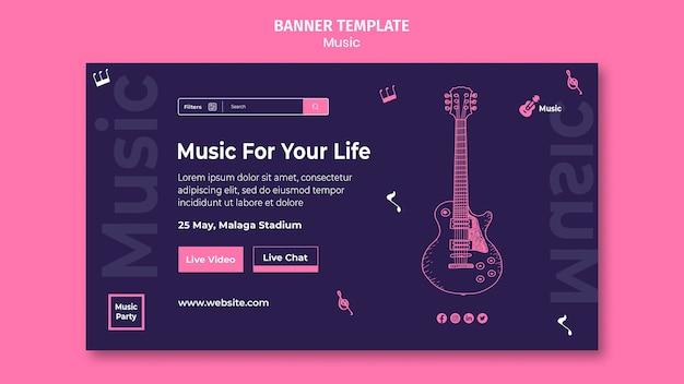 Modello di pagina di destinazione per la festa musicale