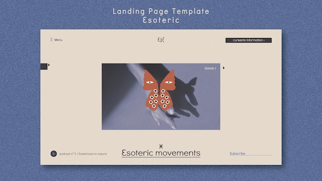 Landing page template for mysticism and esotericism
