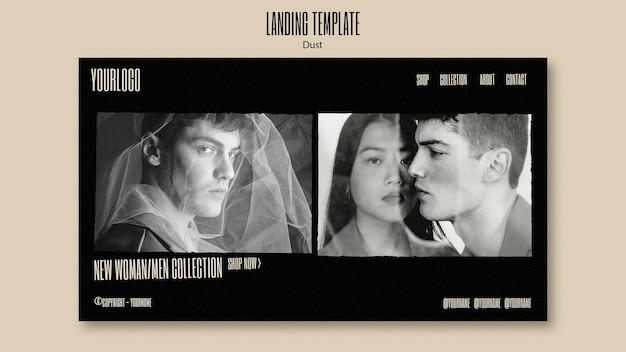 Landing page template for new fashion collection