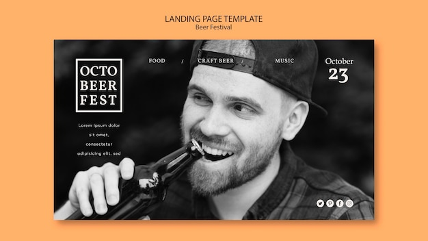 Landing page template for octobeerfest