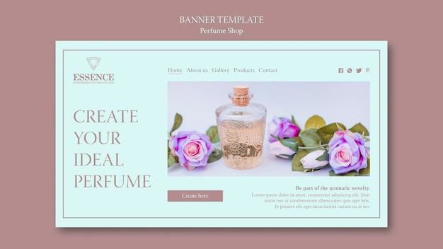 Landing page template for perfume