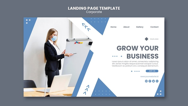 Landing page template for professional business