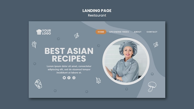 Landing page template restaurant ad