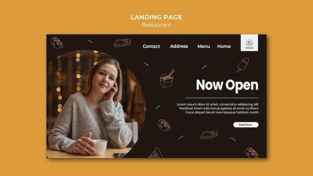 Landing page template restaurant
