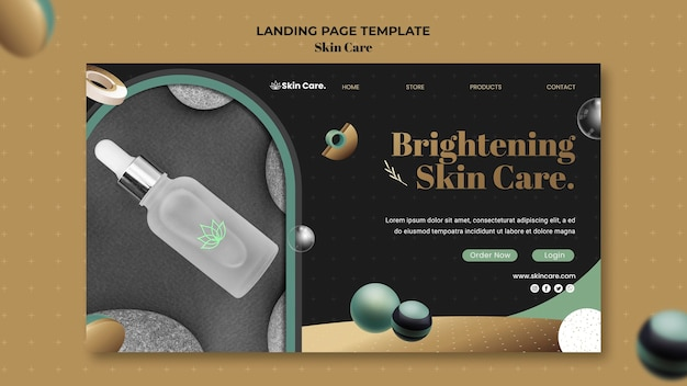 Landing page template for skin care products