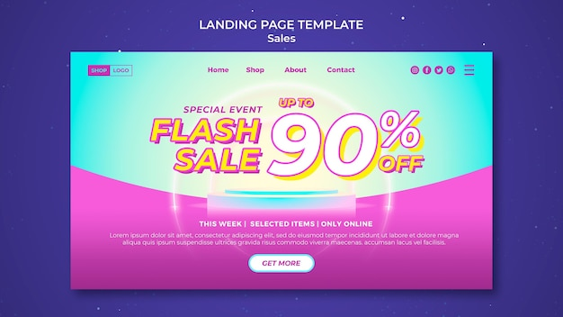 Landing page template for super sale