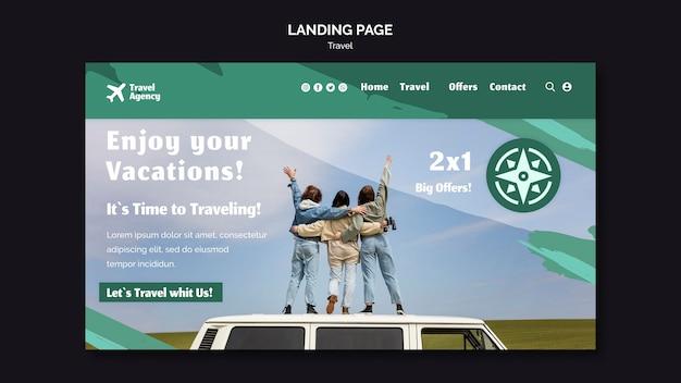 Modello di pagina di destinazione per agenzia di viaggi