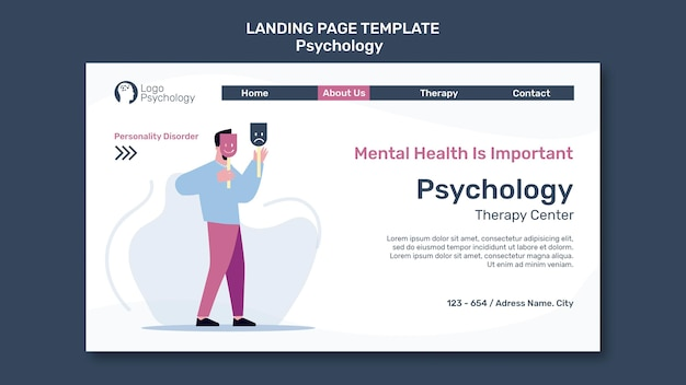 Landing page therapy center template