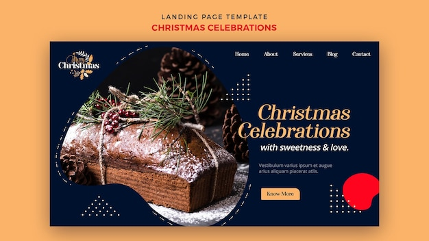 Landing page for traditional christmas desserts