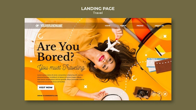 Landing page travel agency template