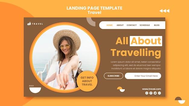Pagina di destinazione per viaggiare con la donna