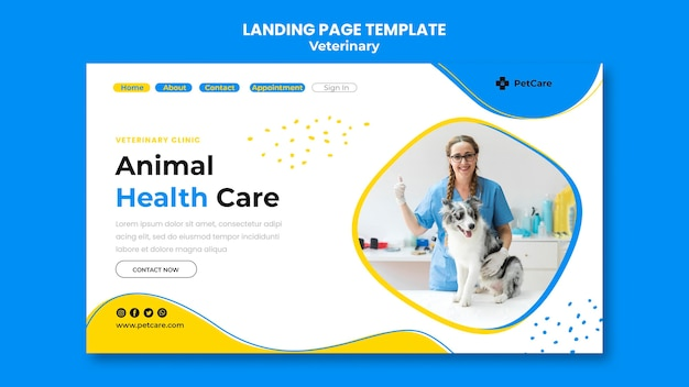 Landing page veterinary clinic template
