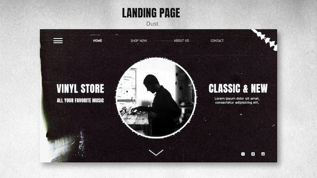 Landing page vinyl store template