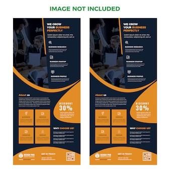 Landing page web template layout psd design