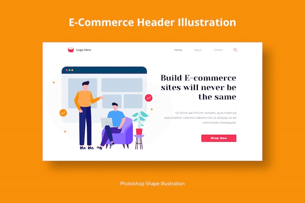 Landing page website illustration