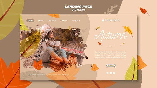 Landing page for welcoming the autumnal season