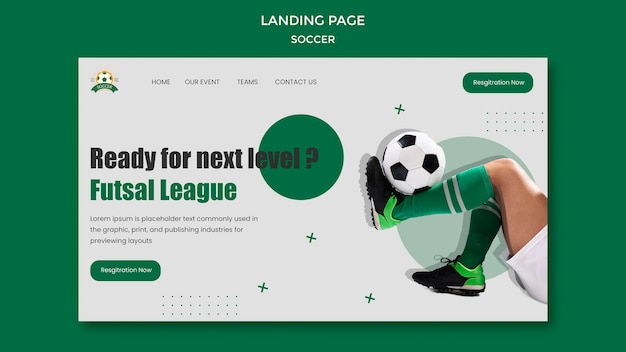 Landing page for women's football league