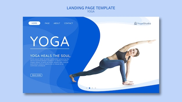 Landing page for yoga fitness