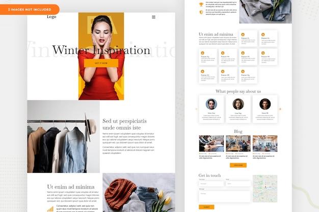 Landing page модный сайт