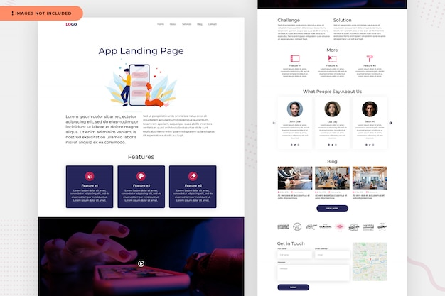 Landing website page