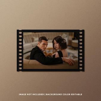 Landscape black paper film frame mockup