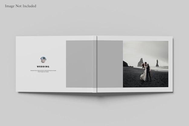 Landscape book album mockup