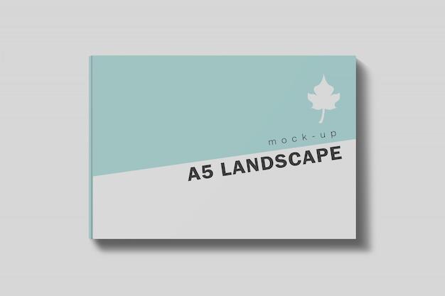 Landscape book cover mockup free psd