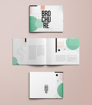 Landscape brochure a4 mockup isolated