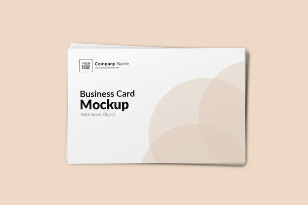 Пейзаж визитная карточка колода макет
