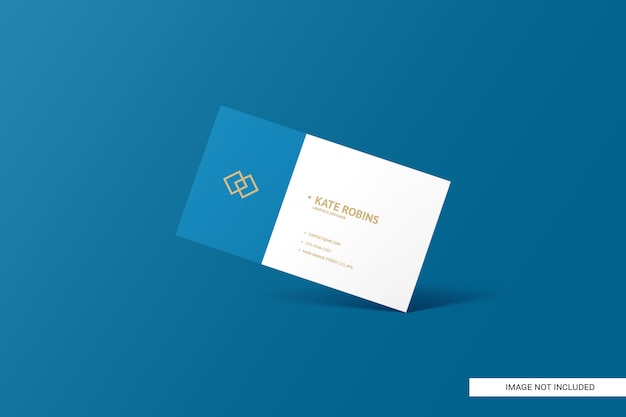 Landscape business card mockup