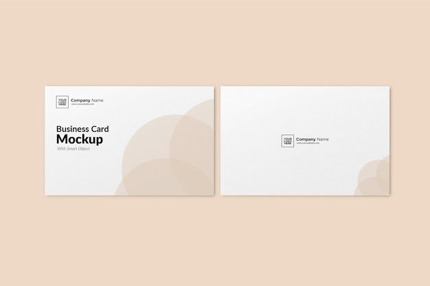 Макет ландшафтной визитки Premium Psd