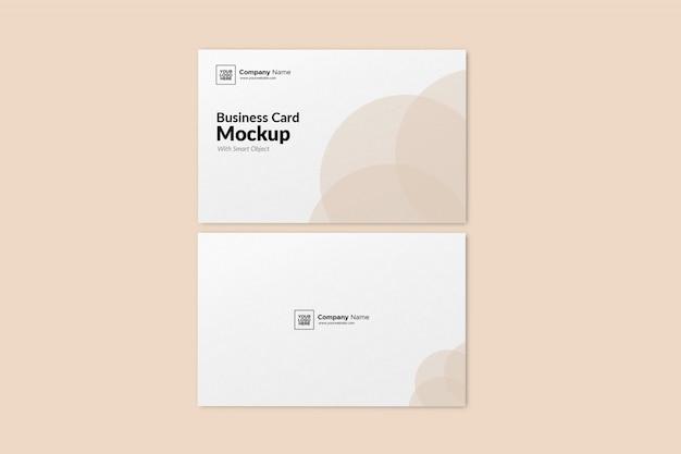 Макет ландшафтной визитки