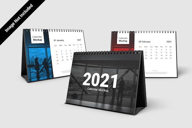 Макет календаря пейзаж со спиралью