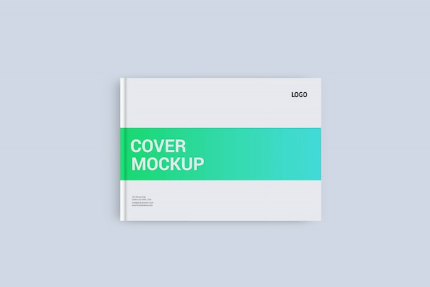 Landscape cover mock-up template a4 size