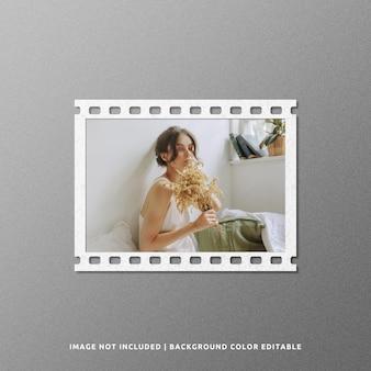 Landscape film paper frame mockup design