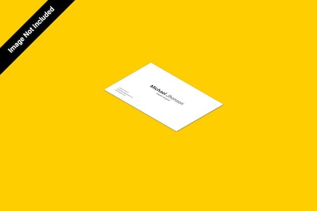 가로 등각 명함 모형