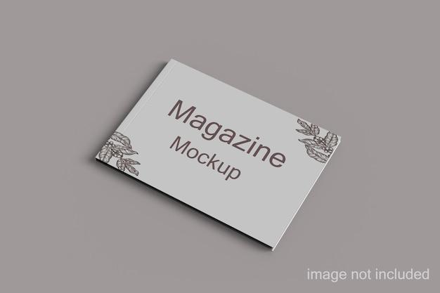 Пейзажный журнал и книжный макет в перспективе