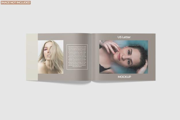 Landscape magazine mockup