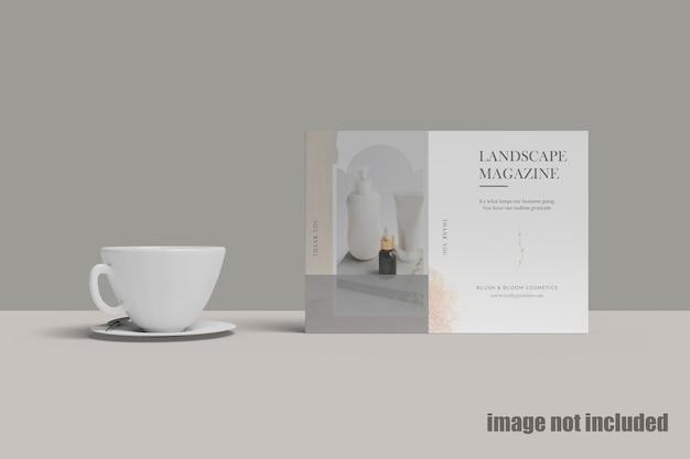 Пейзажный журнал с кофейным моку